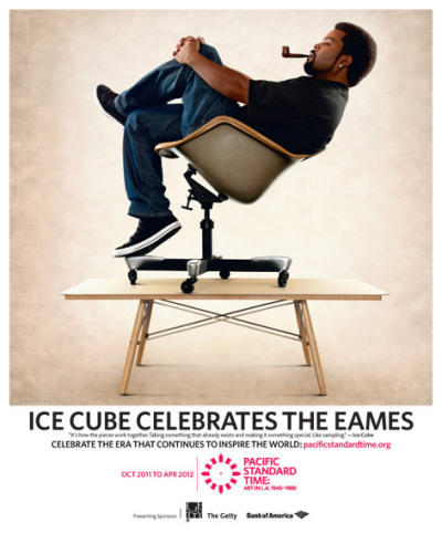 laughingsquid:  Rapper Ice Cube Celebrates The Eames at Pacific Standard Time