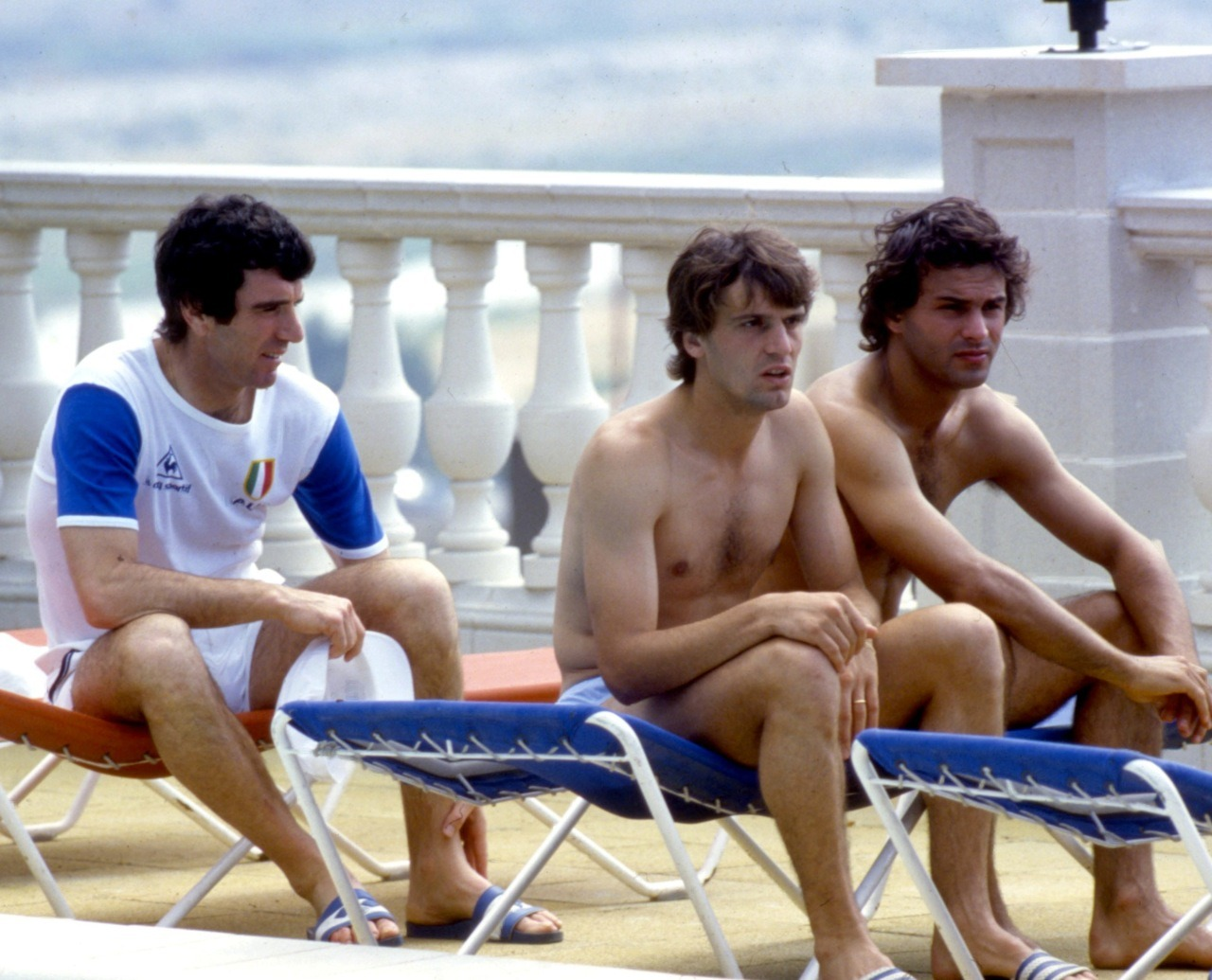 Zoff, Tardelli and Cabrini at World Cup 1982.