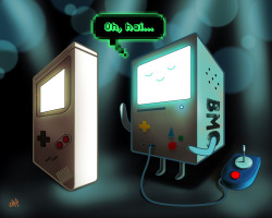 jorgemv:  -Smooth moves  BMO from adventure time. Follow me on Facebook