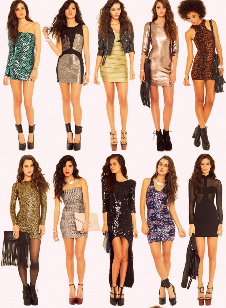 shadowofdream:  short dresses ftw. <3  ALL great ideas for new years :)