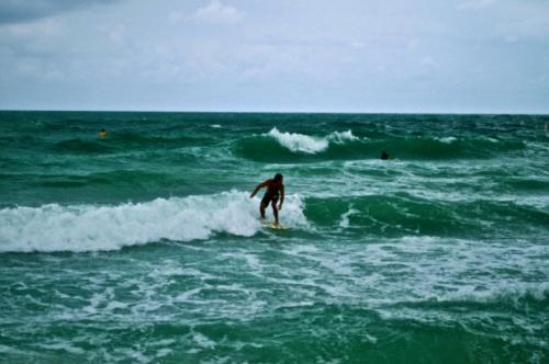 Rarely any waves in Miami, gotta make the best of it.