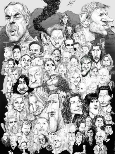 Challenge: identify ALL of the characters in this pic. It's tough. fuckyeahlost:  66 LOST characters in one image, via caricaturesbydon.com. Click to check out his gallery, which has individual close-up caricatures of the characters.