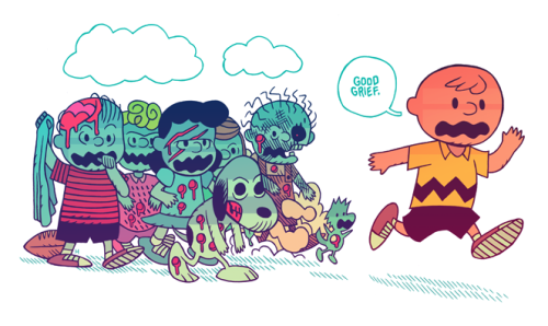 mrhipp:  IT'S THE GREAT ZOMBIE APOCALYPSE, CHARLIE BROWN