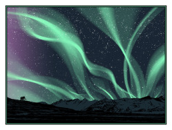 laughingsquid:  Aurora Borealis Art Print by Dan McCarthy