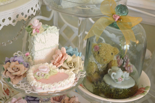 home & projects-faux cakes & teddy bear tea parties!! on Flickr.