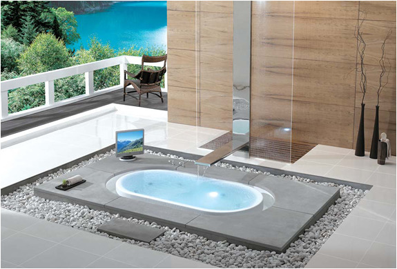 Award Winning Overflow Bathtubs by Kasch Pure pleasure is what you will experience with these award winning bathtubs. The water flows back into the basin in a seemingly endless cycle, allowing you to enjoy this visual and acoustic experience. Harmonizing yourself with nature is a sensational understanding. Such luxury is a fancy thing we crave!