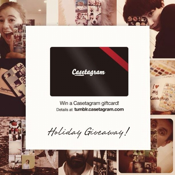 Holiday Giveaway! With Christmas is just around the corner, a Casetagram Virtual Gift Card is the thing for last-minute gifts for your friends and family. Simply give a Casetagram Virtual Gift Card and the recipient can enjoy his or her own personalized iPhone case. In addition, we are excited to announce that we are giving away up to 20 FREE Casetagram gift cards! All you have to do is LIKE and TAG your friends in this photo, then you and your friends will have a chance to win a FREE Casetagram gift card. (Taken with instagram)