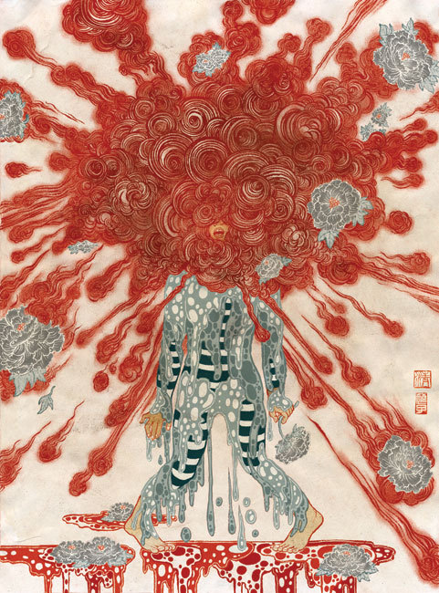 Yuko Shimizu. Blow-Up 3, September 2010. Created for a three person show Blow-Up at The Society of Illustrators. http://www.yukoart.com/