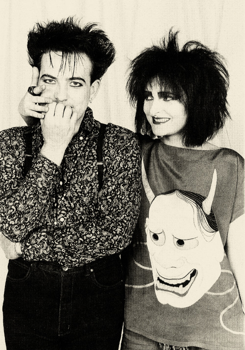 Robert Smith and Siouxsie