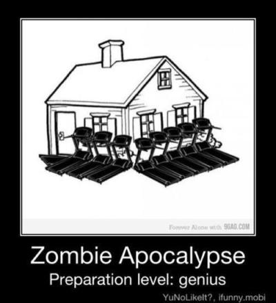Zombie Apocalypse, Preparation Level: Genius