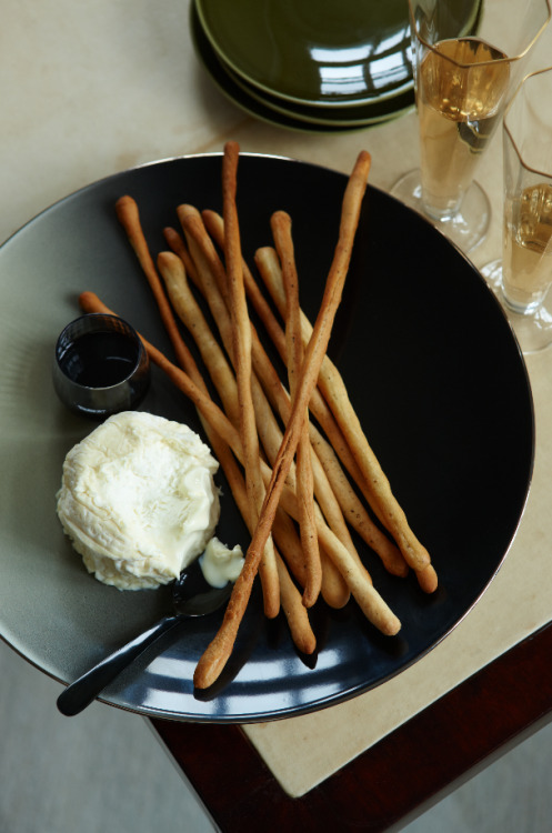 © Petrina Tinslay Black-Pepper Breadsticks Recipe Contributed by Scott Conant Click here for full recipe