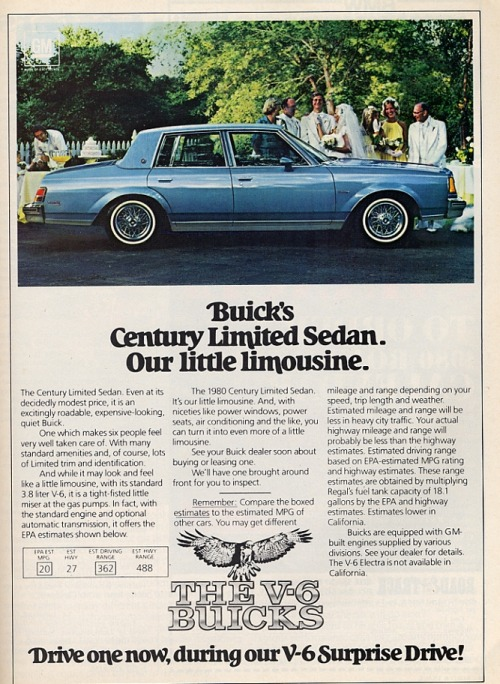 Classic Buick Century Limited Sedan advertisement