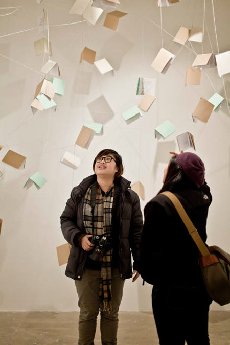 IMAGE OF THE WEEK On Friday, December 9, the Sullivan Galleries welcomed visitors to the openings ofLuminal and And then a pause. Luminal is open through December 23 and And then a pause is open through February 18. Visit saic.edu/exhibitions for more information about these and other exhibitions.