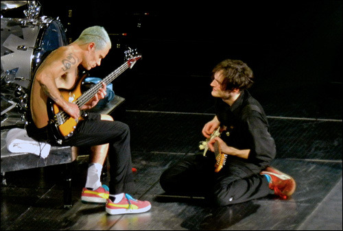 "New interview with Flea and Josh KlinghofferJosh talks about the possibility of playing songs from One Hot Minute in the future…""I clearly remember when I bought One Hot Minute, and how much I liked  that album. Too bad that John Frusciante has never wanted anything to do  with the material written with Dave Navarro, but I understand. Even  now, those pieces do not fit live, there are far more important to give  the public even though I'd love to be able to play some. Who knows,  maybe in the future we will make an exception to the rule and play some,  I think the fans would appreciate it.""Read the full interview…"