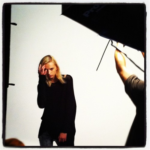BEHIND THE CURTAIN. PRE-FALL 12 SHOOT.  First shot. (Taken with instagram)