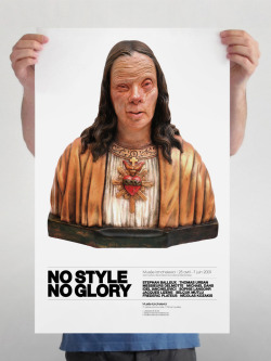 welovemoulesfrites:  NO STYLE NO GLORY» is an exhibition which took place at the Ianchelvici Museum in 2009. The title of this exhibition being so strong and explicit, we wanted very discrete graphics, almost invisible but that a strong image brings a great impact to the work. So we chose this sculpture of Belgian artist Messieurs Delmotte which corresponded ideally to the title «NO STYLE NO GLORY» © We love moules frites 2012 / welovemoulesfrites.be