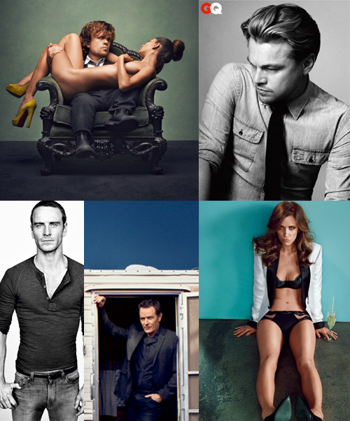 "Hell Yeah. These GQ Stars Got Golden Globe Nominations.  Way to go, team. Congrats to Peter Dinklage, Kristen Wiig, Bryan Cranston, Leonardo DiCaprio, and Michael Fassbender—you guys rule. Oh, and special thanks to our Bro of the Year, Miss Wiig, who brought sexy back to the ""pouty face."""