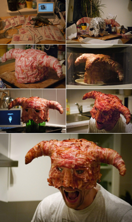 That's right. A bacon helmet.