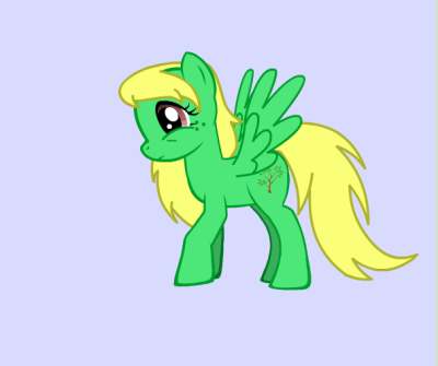 Me as a pony. My pony name is Sierra Sunrise.