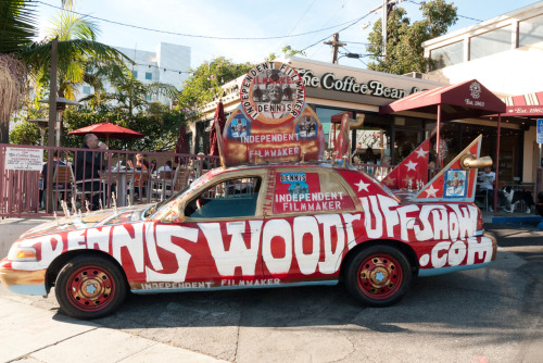 Dennis Woodruff's car parked on Sunset Blvd.