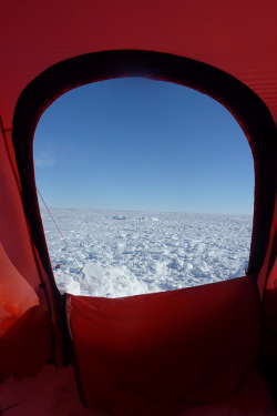 View from the tent door Antarctica by Eugene Kaspersky on Flickr.