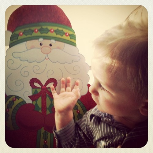 Santa🎅 #christmas #baby (Taken with instagram)