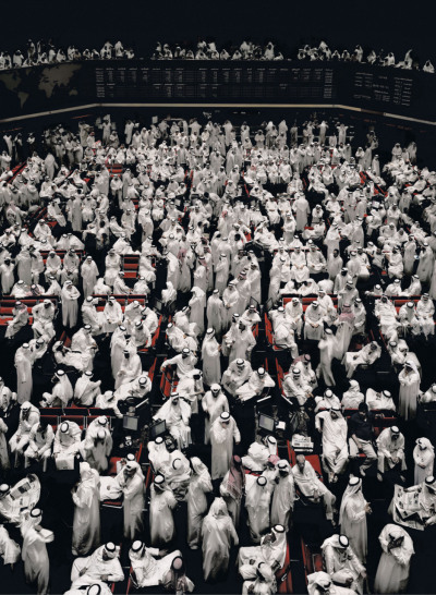 Kuwait Stock Exchange II (2008) by Andreas Gursky