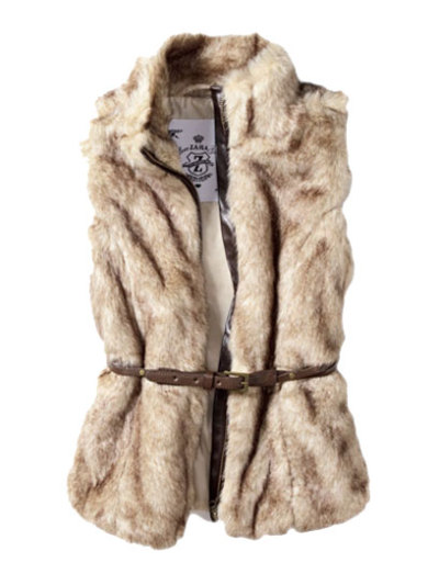 Cozy up this winter season in a fuzzy vest, like this chic piece from Zara. via teenvogue