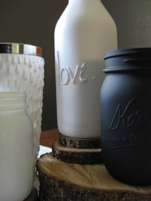 (via pure and noble: Reduce, Reuse, Recycle: Repeat - Mason Jars)