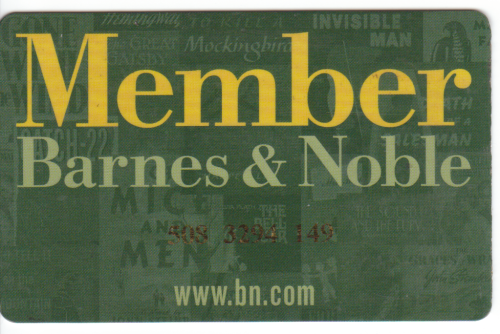 Speaking of digital files and old things… my old Barnes & Noble membership card.  It's weird to think that in five more years, there might not BE a Barnes & Noble.  It's already happened to Borders.