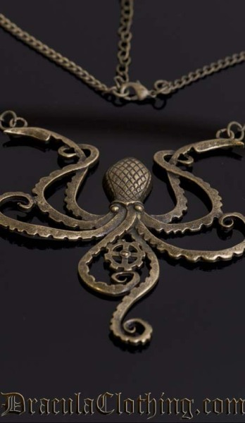 steampunk octopus jewelry