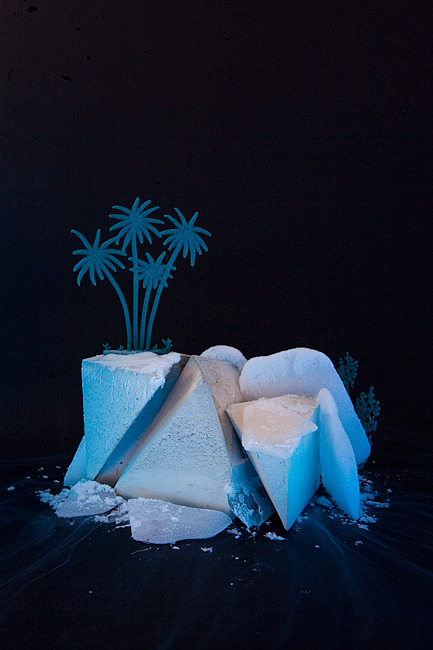 Ice Paradise / concrete & dry ice & toys / December 2011