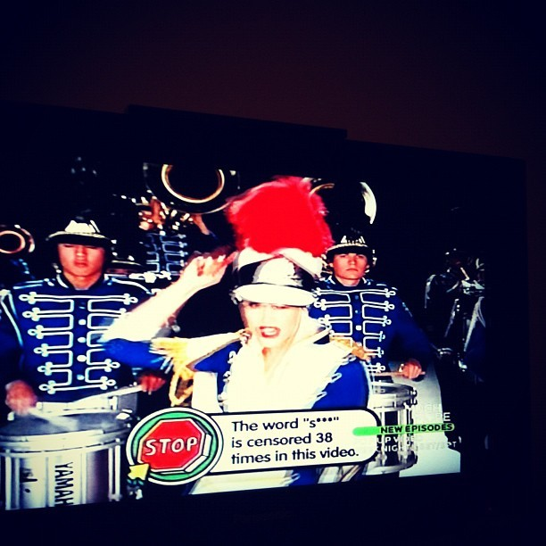 """Hollaback Girl"" on Pop Up Video #flashback  (Taken with instagram)"
