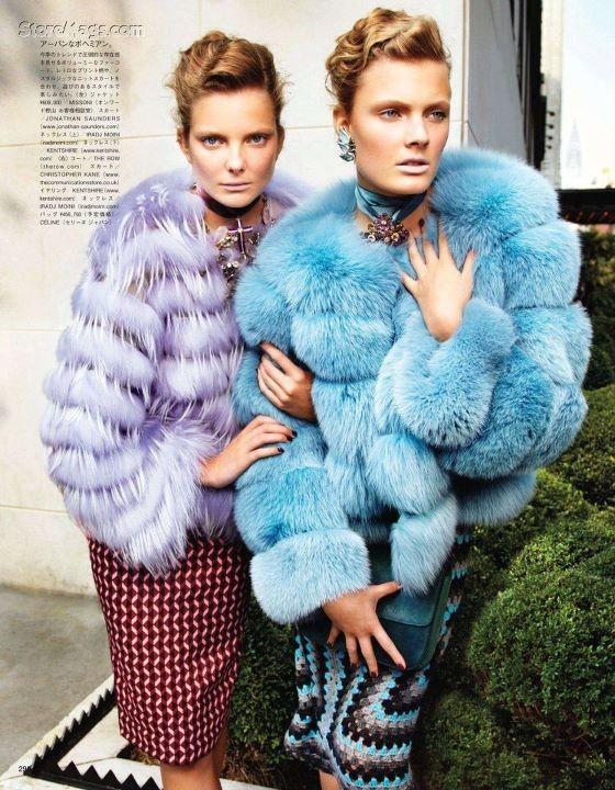 alan-nahum:  Vogue Japan.Models: Constance Jablonski and Eniko Mihalik           Style Files | SOR SORI STYLE Enjoy the style? Check out the Shop Sor Sori Style blog for top style items.