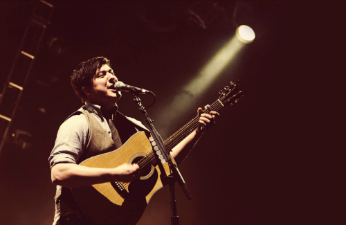 mumsessed:  Marcus Mumford of Mumford & Sons performs at LIVE 105's Not So Silent Night in Oakland, California | December 9, 2011 Photo by Patrick Concepción