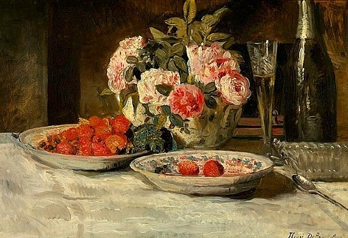 Henri De Braekeleer Strawberries and Champagne 1883