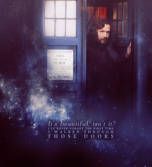 for-sirius asked you: Sirius Black in the Tardis  just stab me in the heart why don't you