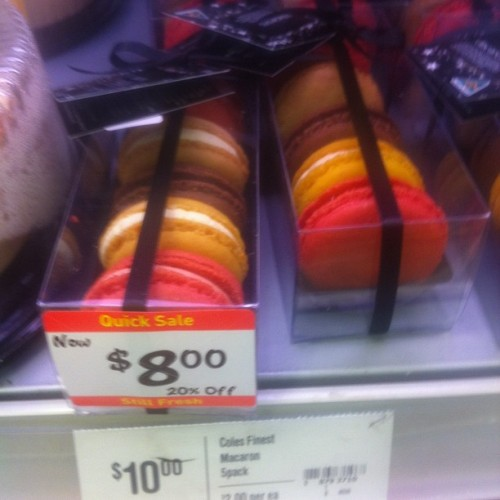 It's official: macarons have jumped the shark available 20% off at Coles (Taken with instagram)