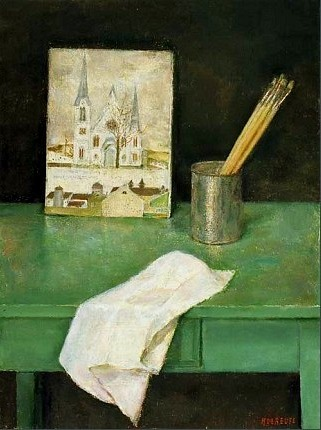 stilllifequickheart:  Hélène De Reuse Still Life with Paintbrushes 20th century