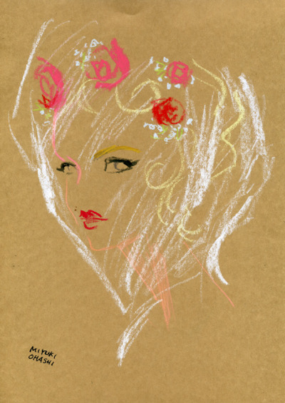 csebastian:  fashion illustration by Miyuki Ohashi based on Out Magazine, November 2011 (+)Andrej Pejic // miyukiohashi