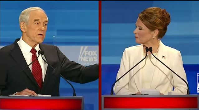 Ron Paul is crushing Michele Bachmann on Iran. Crushing her. I'm not even confident he's correct, but he's definitely winning this exchange.