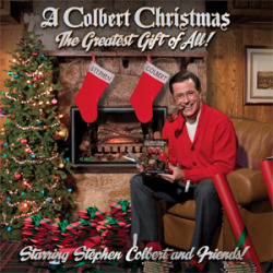 "On the 16th day of December, my dealer gave to me…. A Colbert Christmas  - Stephen Colbert (with Feist, Toby Keith, Willie Nelson, John Legend, Jon Stewart, and Elvis Costello) COLBERT, WHY U NO LIKE STREAMING? Sadly, can't find this album on Spotify/Rdio, just scattered bits around the web. So you can only find…- (most of) these songs on this Youtube playlist- Toby Keith's ""Have I got a present for you"" on the Colbert Website> > > (side note: check out the ""related videos"" for more clips from the special) - And Colbert's & Elvis Costello's ""There are much worse things to believe in"" on the Hype Machine Trust me, it's SO worth clicking these links. Why so crack-tastic?  Colbert is easily one of the greatest gifts the Universe has ever given to us. Here he enlists some of the best singers to cover songs about toking up with Jesus (Willie Nelson), calling the angel hotline (Feist), the war on Christmas (Toby Keith), converting to Judaism (Jon Stewart), and licking ""nutmeg"" off the ""ladle"" (John Legend). It's amazing, you guys. Amazing.  Not your drug of choice? TOO BAD BECAUSE THIS IS ALL YOU'RE GETTING BECAUSE OF HOW AWESOME IT IS!(And Celine Dion - Rdio 