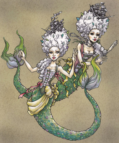 sequinsandleaves:  mermaids by RedQueen2112