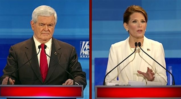 Bachmann attacking Gingrich again, this time on abortion.
