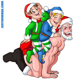 """Elf Ride"" design for Pornaments (Adult-themed Christmas ornaments.)"
