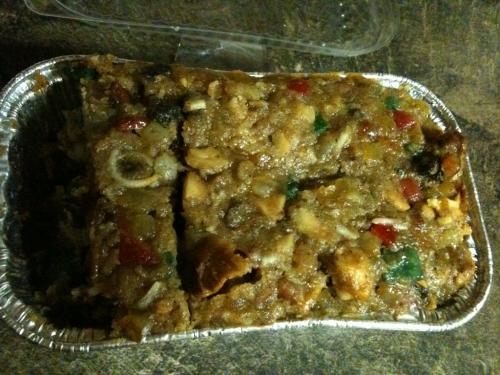 Tried fruitcake for the 1st time. Ewww.