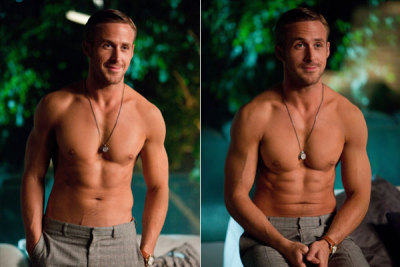 Hey Girl.  Sorry. Anyway… Crazy Stupid Love was a guilty pleasure that Justin allowed me to indulge in after my terrible horrible no good very bad day (which began with me clamping a flat iron down on my own ear lobe at 6:30am. fuck.). Anyway, it was total fluff but very sweet and even Justin liked it! Steve Carrell is great and it doesn't get much cuter than Emma Stone and The Gos. I'd give it at least one and a half so goods! ~LP