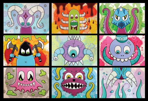 Crazy Creature Combo Cards! by SINNED, NYC on Flickr.
