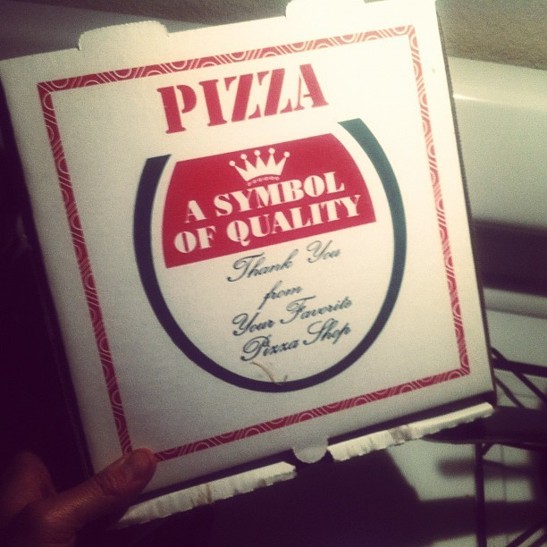 It didn't stand a chance. #itsnotmonday #but… #pizza (Taken with Instagram at Zissou Compound)