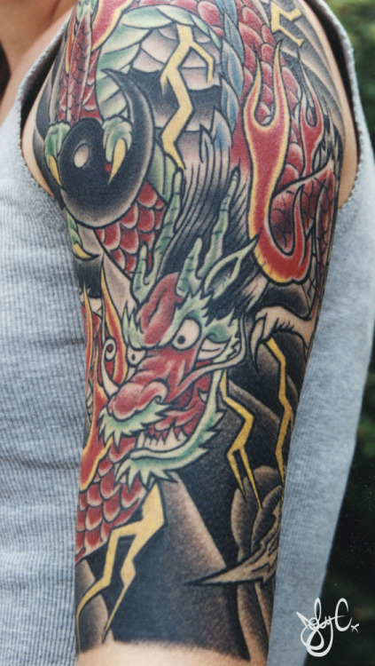 Half sleeve I did on Staci shortly after the other design.